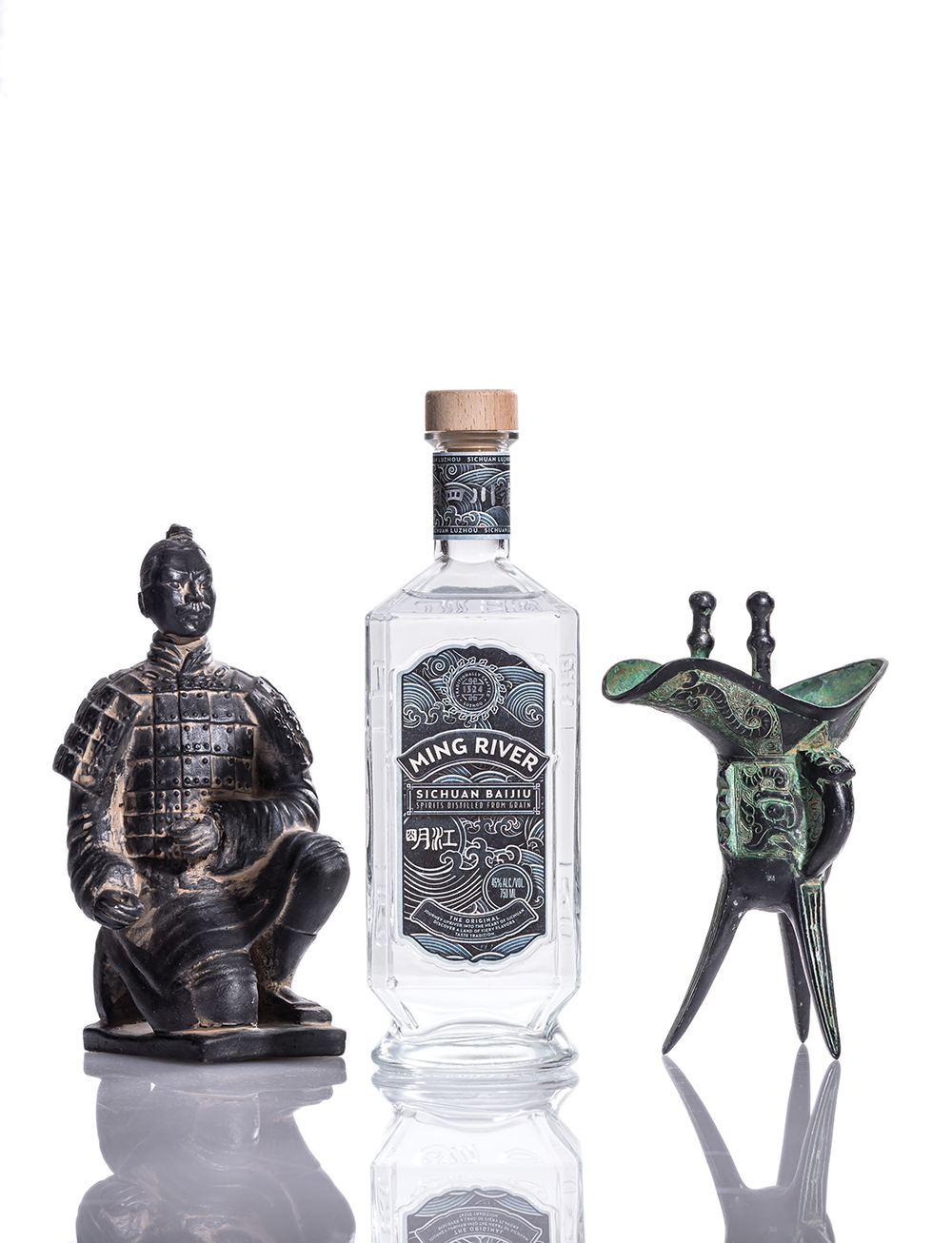 Ming River Baijiu Bottle. Credit Noah Fecks