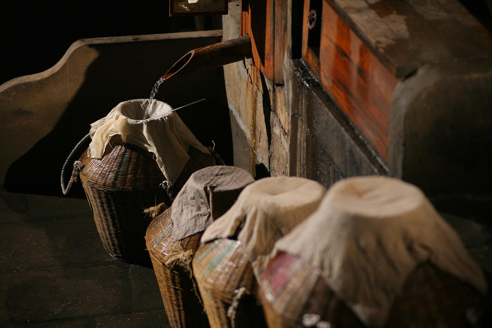 Fresh baijiu distillate, Luzhou Laojiao Distillery